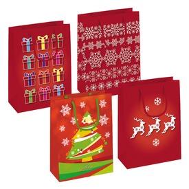 Karácsonyi ajándékzacskó - közepes, többféle