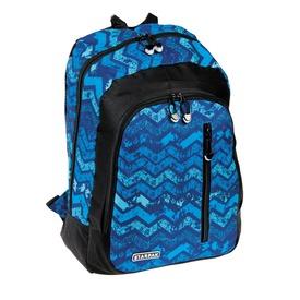 Cikkcakk mintás hátizsák - kék