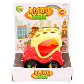 Készségfejlesztő bébi autó - piros-sárga, 12 cm