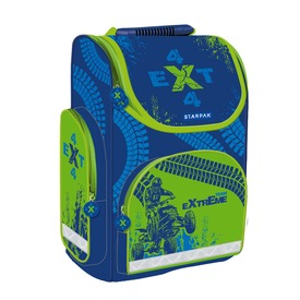 Extreme iskolatáska - kék-zöld
