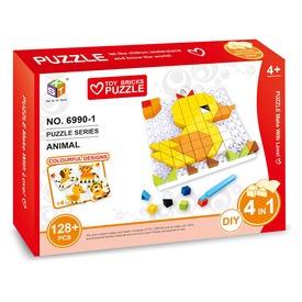Állatok mozaik 128 darabos képkirakó