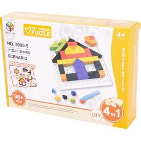 Mozaik képkirakó, 98db, 4 képpel - házak