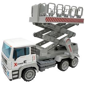 Műanyag teherautó - fehér, 1:12
