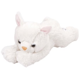 Cica plüssfigura - fehér, 25 cm