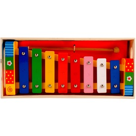 Színes fa xilofon - 17 cm