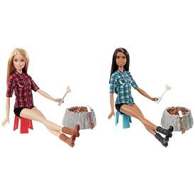 Barbie: erdei táborozás baba - 29 cm, többféle