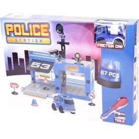 Rendőrség műanyag 67 darabos építőjáték