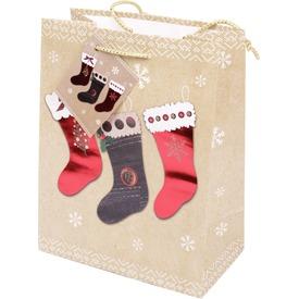 Papírtasak karácsonyi zokni