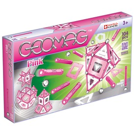 Geomag Pink Panels 104 darabos készlet