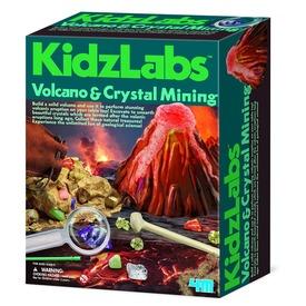 4M vulkán és kristály bányász készlet