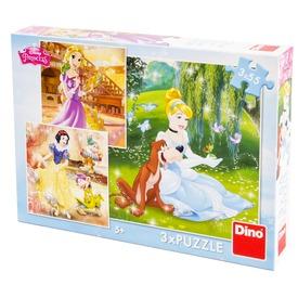 Disney hercegnők tánc 3 x 55 darabos puzzle