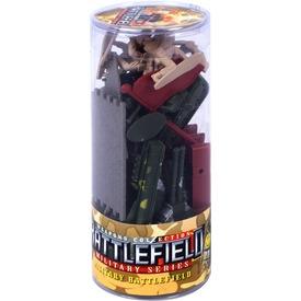 Katonai 20 darabos játékkészlet hengerben