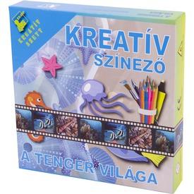 Tenger világa kreatív színező füzet