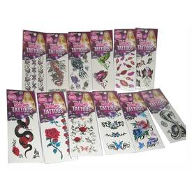 Tetováló matrica 36 db /csomag, 12 féle