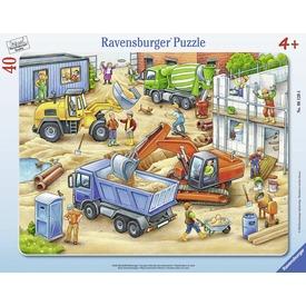 Nagy munkagépek 40 darabos puzzle