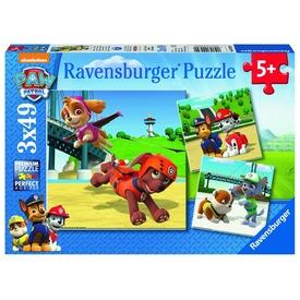 Mancs őrjárat 3 x 49 darabos puzzle