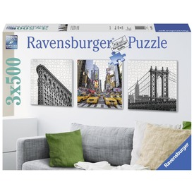 New York 3 x 500 darabos puzzle