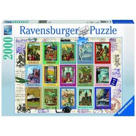 Bélyeggyűjtemény 2000 darabos puzzle