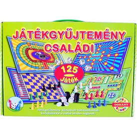 Családi játékgyűjtemény 125 darabos társasjáték