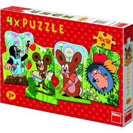 Kisvakond 4 x 54 darabos puzzle