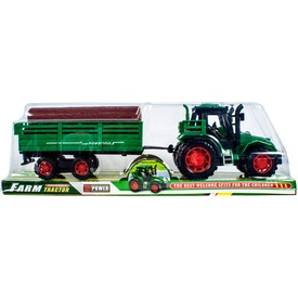 Lendkerekes traktor rönkszállító utánfutóval - 30 cm