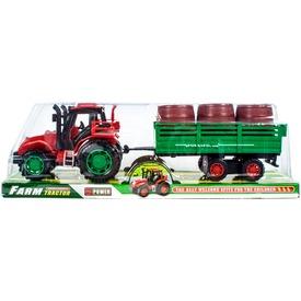 Lendkerekes traktor hordószállító utánfutóval - 30 cm