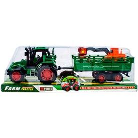 Lendkerekes traktor munkagépszállító utánfutóval - 30 cm