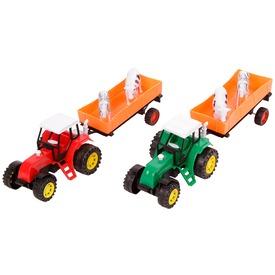 Lendkerekes traktor állatszállító utánfutóval - 30 cm