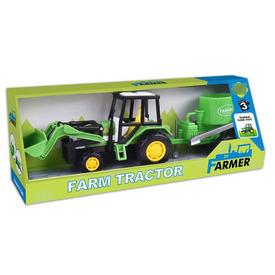 Lendkerekes traktor arató utánfutóval - 30 cm Itt egy ajánlat található, a bővebben gombra kattintva, további információkat talál a termékről.