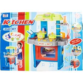 Műanyag játékkonyha fénnyel és hanggal - 62 cm