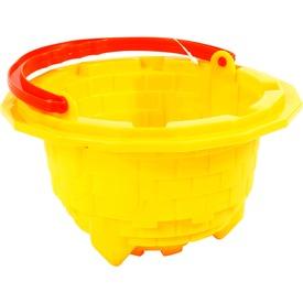 Bástyás homokozóvödör - sárga