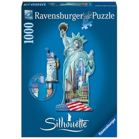 Szabadság-szobor 1000 darabos sziluett puzzle
