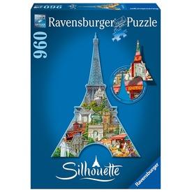 Eiffel torony 960 darabos sziluett puzzle