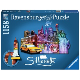 Puzzle sziluett 800-1200 db - New York