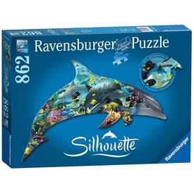 Puzzle sziluett 800-1200 db - Delfinek