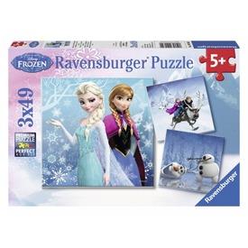 Jégvarázs jeges kaland 3 x 49 darabos puzzle