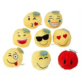 Plüss mosolygós labda, 10 cm, 8 féle