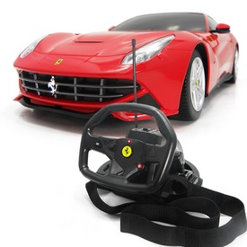 Távirányítós Ferrari F12 kormánnyal - 1:18