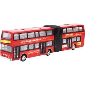 Express emeletes busz - piros, 35 cm