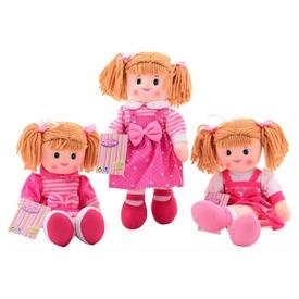 Rongybaba rózsaszín ruhában - 40 cm, többféle