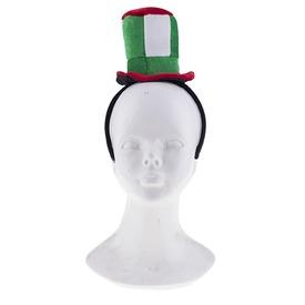 Mini cilinder hajpánttal - piros-fehér-zöld