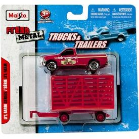Fém teherautó utánfutóval dobozban  Itt egy ajánlat található, a bővebben gombra kattintva, további információkat talál a termékről.
