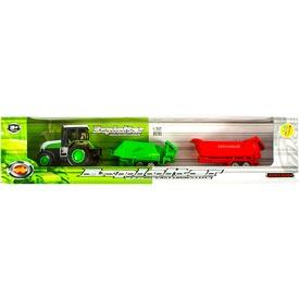 Fém traktor két utánfutóval - 1:32 Itt egy ajánlat található, a bővebben gombra kattintva, további információkat talál a termékről.