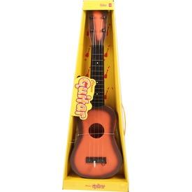 Műanyag gitár fa mintázattal - 50 cm