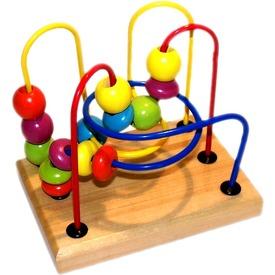 Fa golyóvezető ügyességi játék - kicsi