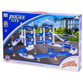 Rendőrségi parkolóház kisautóval - nagy