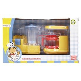Konyhai turmixgép és kávéfőző - sárga