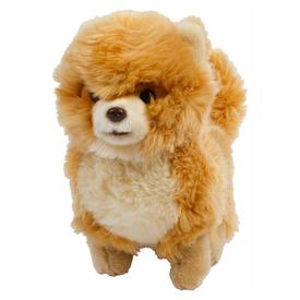 Kutya álló plüssfigura - 24 cm, barna