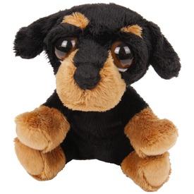 Kutya nagy szemű plüssfigura - 15 cm, többféle