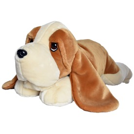 Basset kutya fekvő plüssfigura - 75 cm